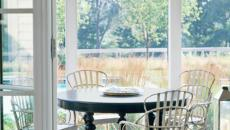 véranda vitrée en extension de la maison