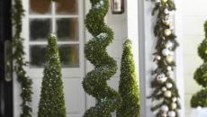 décoration de Noël pour jardin entrée