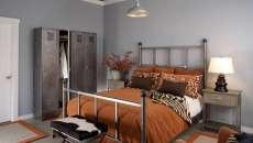 décoration chambre à coucher d'amis vestiaires en métal