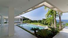patio piscine vue mer palmier paradisiaque villa