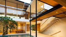 intérieur luxe maison minimaliste de vacances