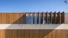 volets bois façade contemporaine maison de luxe