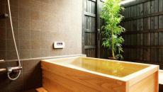 influence rustique baignoire en bois zen